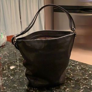 Coach Black Bucket Handbag
